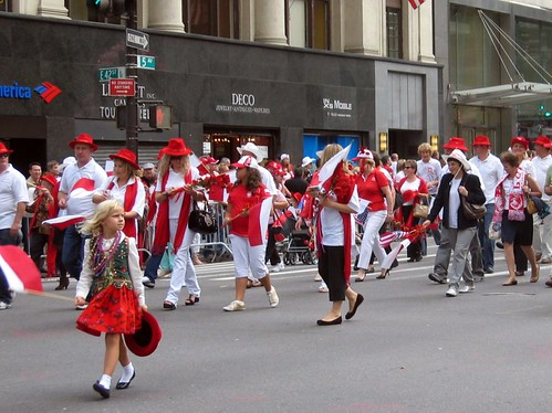 Polish parade on 5th Avenue.