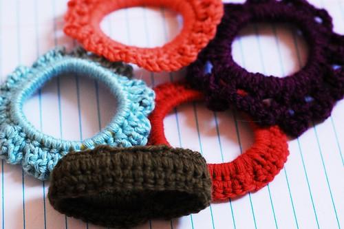 DIY Crocheted scrunchies