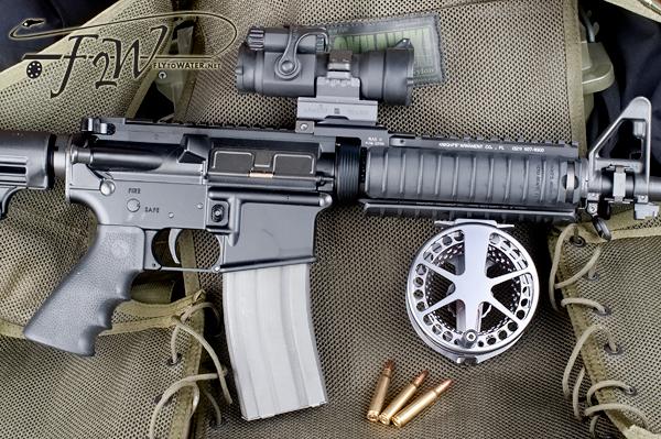 Lamson Vanquish and M4 Carbine