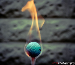 Golf Ball On Fire First Explore #143 (Ashey1209) Tags: blue orange canon ball golf fire explore burning flame golfball 550d