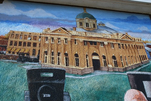 old angelina county courthouse mural detail