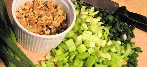 chicken salad mise en place