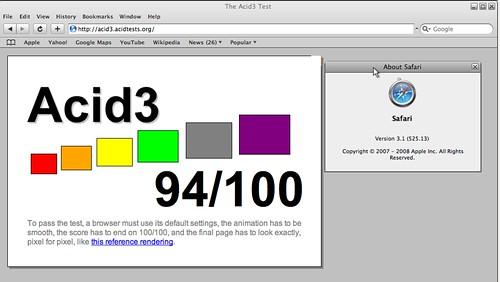 94% avec Webkit pour Windows