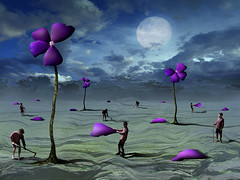 Ptalas. (marcarambr) Tags: blue flores field azul photomanipulation photoshop marcel cs2 surrealism digitalart magritte fantasy campo lua dali salvadordali artedigital surrealistic photoshopart surrealismo fantasyart surreale artisticexpression flawers justimagine superaplus aplusphoto megashot estremit marcarambr