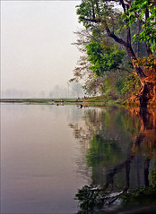 Nepal site (Katarina 2353) Tags: nepal people lake reflection film nature water fog analog landscape photography boat nikon asia republic image paisaje paysage federal priroda phewa democratic chitwan tjkp nikonf401s pejza katarinastefanovic katarinastefanovicphoto katarina2353 gettylicense