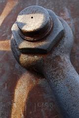 Part of the Art? (André Hofmeister) Tags: sculpture hamburg sigma skulptur landungsbrücken wrench 1850mmf28exdcmakro schraubschlüssel