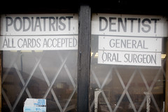 Sharing an Office: Podiatrist, Dentist (metroblossom) Tags: usa chicago sign illinois funny southside dentist roseland podiatrist img9822jpg