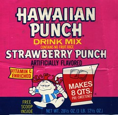 Hawaiian Punch Strawberry label