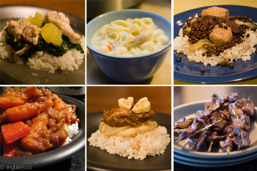 Filipino food mosaic