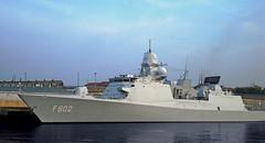 Warship F802 De Zeven Provincien on the river Wear Sunderland 2