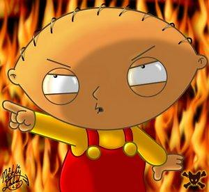 stewie in fire