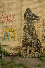 Peru Ana Ana Peru + SWOON (peruanaanaperu) Tags: nyc streetart graffiti wolf swoon wheatpaste bushwick wolfwoman peruanaanaperu