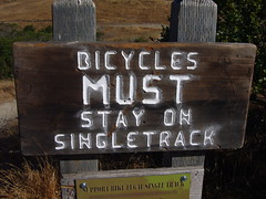 Biycles MUST Stay On Singletrack