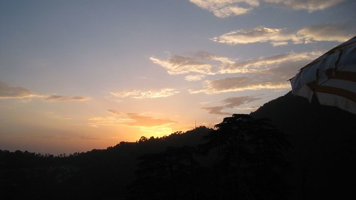 Sunset over McLeod Ganj