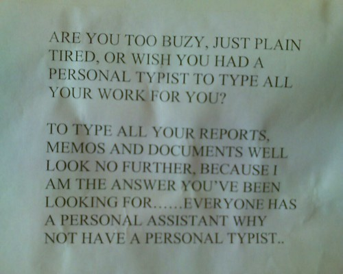 Personal typist