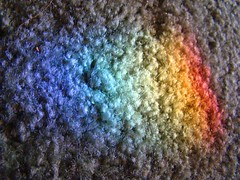 Rainbow in the carpet