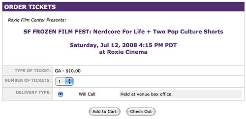 Nerdcore For Life, get your tix now.