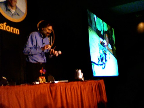 Dr. Mitch Resnick demonstrating a cat robot at NECC 2008