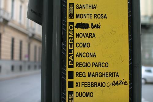 Renamed bus stops