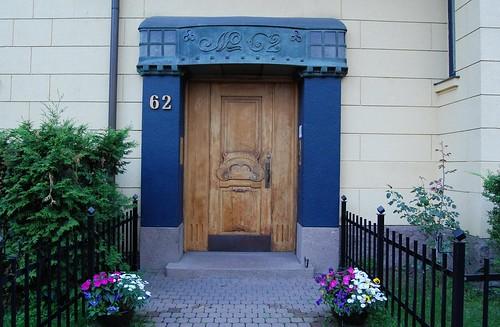 Blått inngangsparti