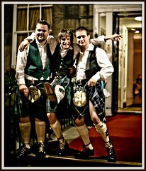 A few sherries later .. (FotoFling Scotland) Tags: man male men up fashion carpet freedom hotel scotland edinburgh kilt lift leg under scottish event fag hold waistcoat scots tartan redcarpe