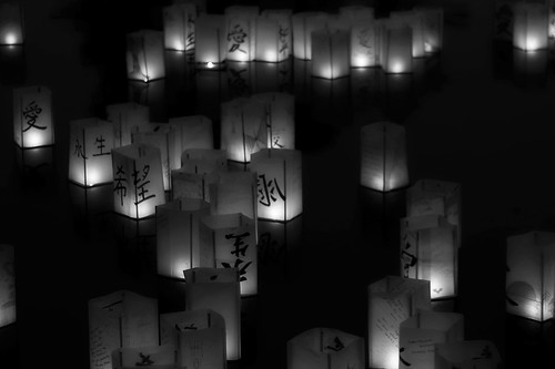 Lanterns in B&W