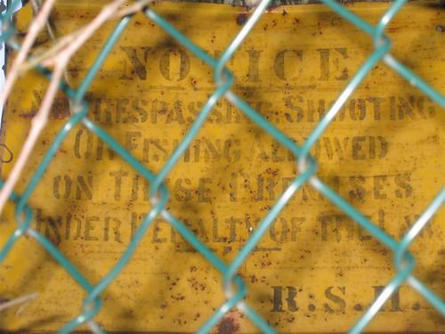 Historic no trespassing sign