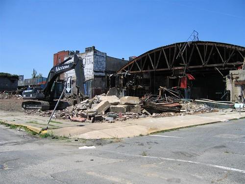 Palace Amusements under demolition