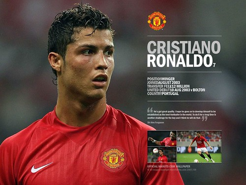 f0b1b527f His name is Cristiano Ronaldo dos Santos Aveiro. He is joins Manchester  United Football Club(FC) and wear shirt number 7. The previous shirt  numbers are 28 ...