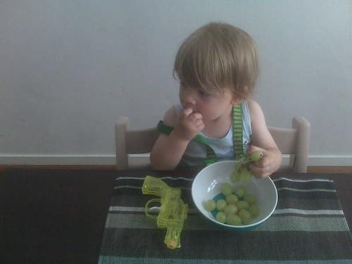 Eerst nog paar druiven