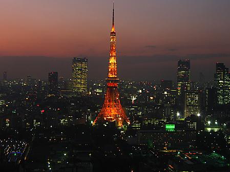 tokyo tower night