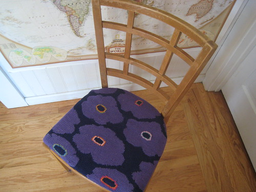 Dark Daisy chair cushion