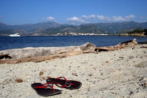 Saint FLorent vu de la plage