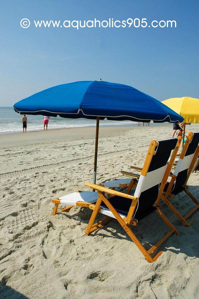 Umbrellas In Front Of Anderson Ocean Club And Spa Myrtle Beach South Carolina
