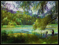 Pond Fishing (Tim Noonan) Tags: summer people holiday art digital forest photoshop effects fishing pond manipulation trail impressionism inspire processed soe mosca amazingcolors treatment potofgold artcafe blueribbonwinner artisticexpression supershot justimagine bej mywinners abigfave platinumphoto anawesomeshot treesubject diamondclassphotographer flickrdiamond citrit theunforgettablepictures picturefantastic betterthangood proudshopper theperfectphotographer amazingexcellence life~asiseeit multimegashot sharingart awardtree magicdonkeysbest davincitouch obq atqueartificia amongstthethorns worldglobalaward globalworldawards roseexcellence passionateinspirations artcafedomidoexhibitionscomein daarklands