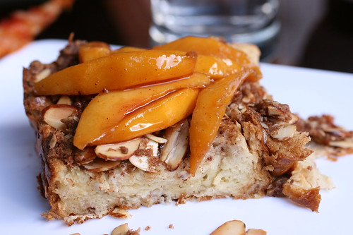 Almond Crunch French Toast with Peach Compote