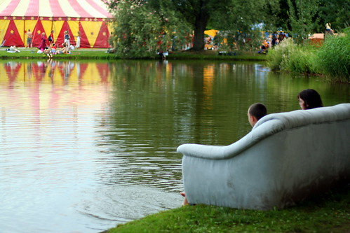Couch, next to the lake, next to the Big Top. Is it Random enough?