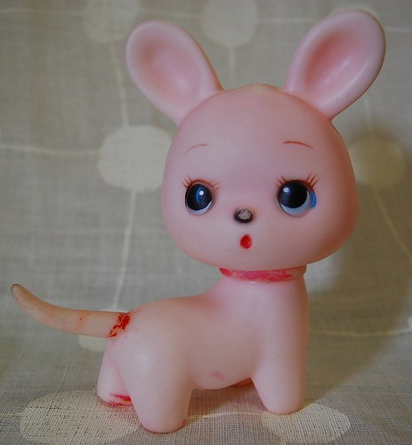 Vintage rubber squeaky toy