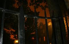 Dean's Court - courtyard (Fliedermaus) Tags: mist fog night scotland fife july standrews seamist ecosse haar scotchmist