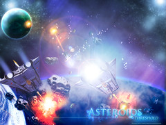 Asteroids -  threshold 1024 (Crations du Net - On duty) Tags: game colors illustration photoshop stars fun design space arcade atari leisure eighties psd galactic asteroids vcs
