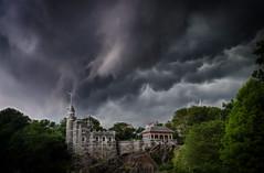 A Storm Is A-Brewin' (Karnevil) Tags: nyc newyorkcity usa newyork castle nikon ominous centralpark hdr belvederecastle stormclouds d300