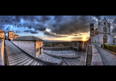 Sunset on Assisi (R.o.b.e.r.t.o.) Tags: sunset italy panorama bravo italia tramonto basilica pano unesco chiesa roberto hdr assisi umbria italians churh sanfrancesco abigfave colorphotoaward holidaysvacanzeurlaub infinestyle goldstaraward obq sensationalphoto