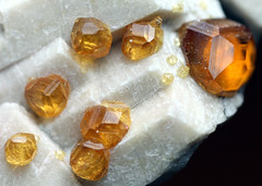 Spessartine on Orthoclase - China (2) (adamantine) Tags: china orange stone mineral geology fujian gem garnet gemstone zhangzhou mineralogy yunxiao gemmy orthoclase spessartine tongbei wushanmine