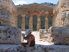 SICILIA, Segesta - I've Got A Pebble In My Shoe... (Cristina Giovanna) Tags: italy ruins sicily sicilia segesta trapani greektemple itala yourcountry
