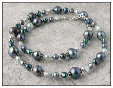 Custom made pearl necklace