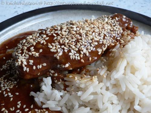 Orange Hoi Sin Hühnchen aus dem Slow Cooker
