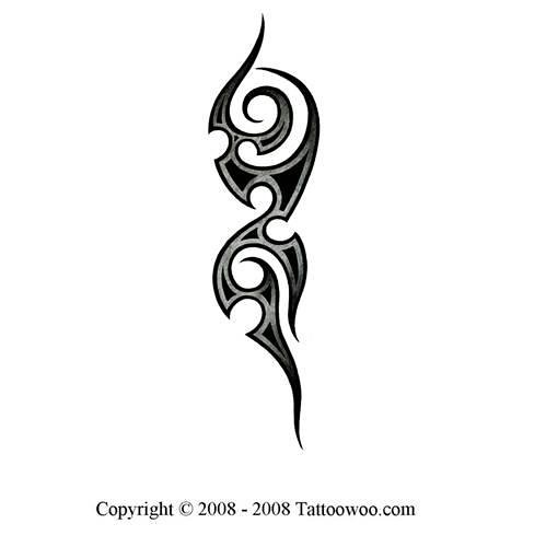 Medieval tribal tattoo design