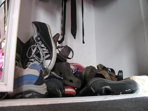 My shoe mess