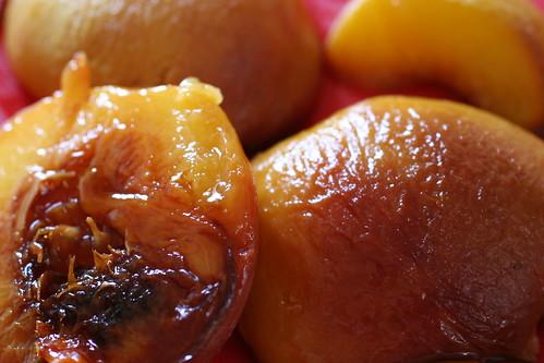 roasted peaches