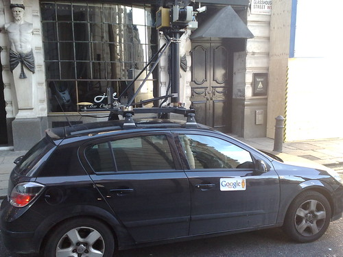 Google's Street View Car near Piccadilly Circus